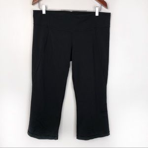 Lululemon Gather & Crow Cropped Black Leggings